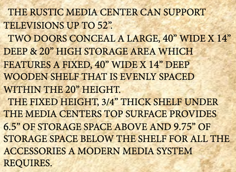 Montana Rustic Media Center features