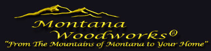 montana woodworks rustic log furniture logo