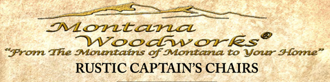 Montana Woodworks Rustic Captain's Chairs