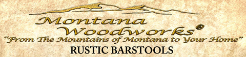 Montana Half Log Rustic Bar Stool logo