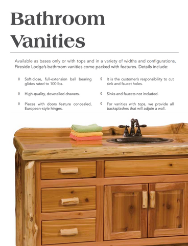 Fireside Lodge Rustic Vanities