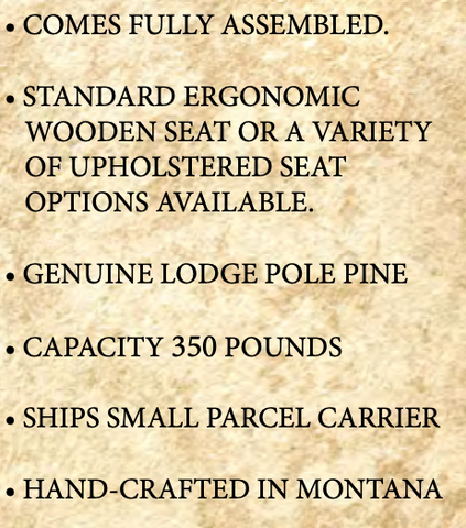 Rustic Captains Chair Specs