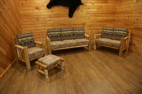 Sante Fe White Cedar Rustic Living Room Collection