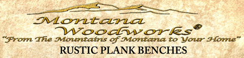 Homestead rustic plank benches logo