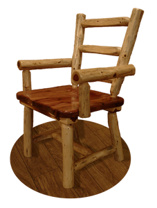 Wood Dining Chair w/ Arms - Red Cedar by Wildwood Rustics