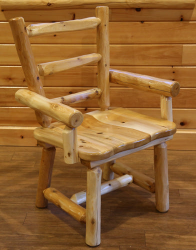 Wood Dining Chair w/ Arms - White Cedar by Wildwood Rustics