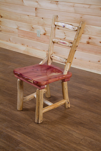 Wood Dining Chair w/ Ladder Back - Red Cedar by Wildwood Rustics