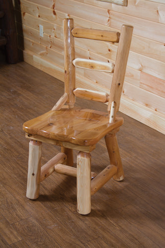 Wood Dining Chair w/ Ladder Back - White Cedar by Wildwood Rustics