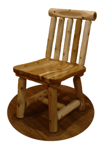 Wood Dining Chair w/ Spindle Back - White Cedar by Wildwood Rustics