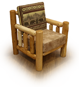Sante Fe Rustic Chair - White Cedar