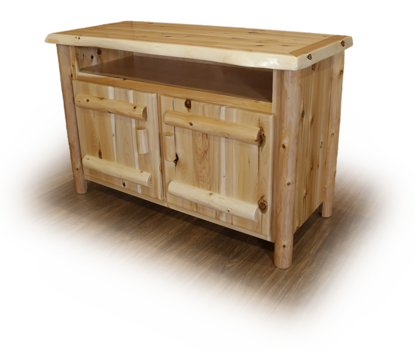 Rustic Entertainment Stand - White Cedar