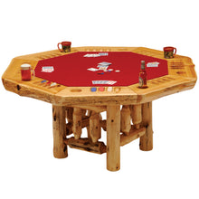 Load image into Gallery viewer, Rustic Poker Table - Cedar with Log Framework Base