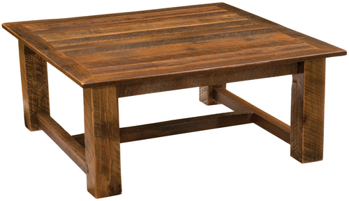 Rustic Coffee Table Open Square Style - Barnwood