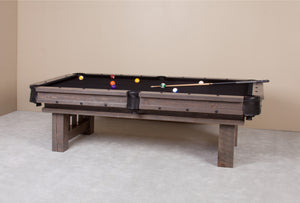 Barnwood Cheyenne Rustic Pool Table