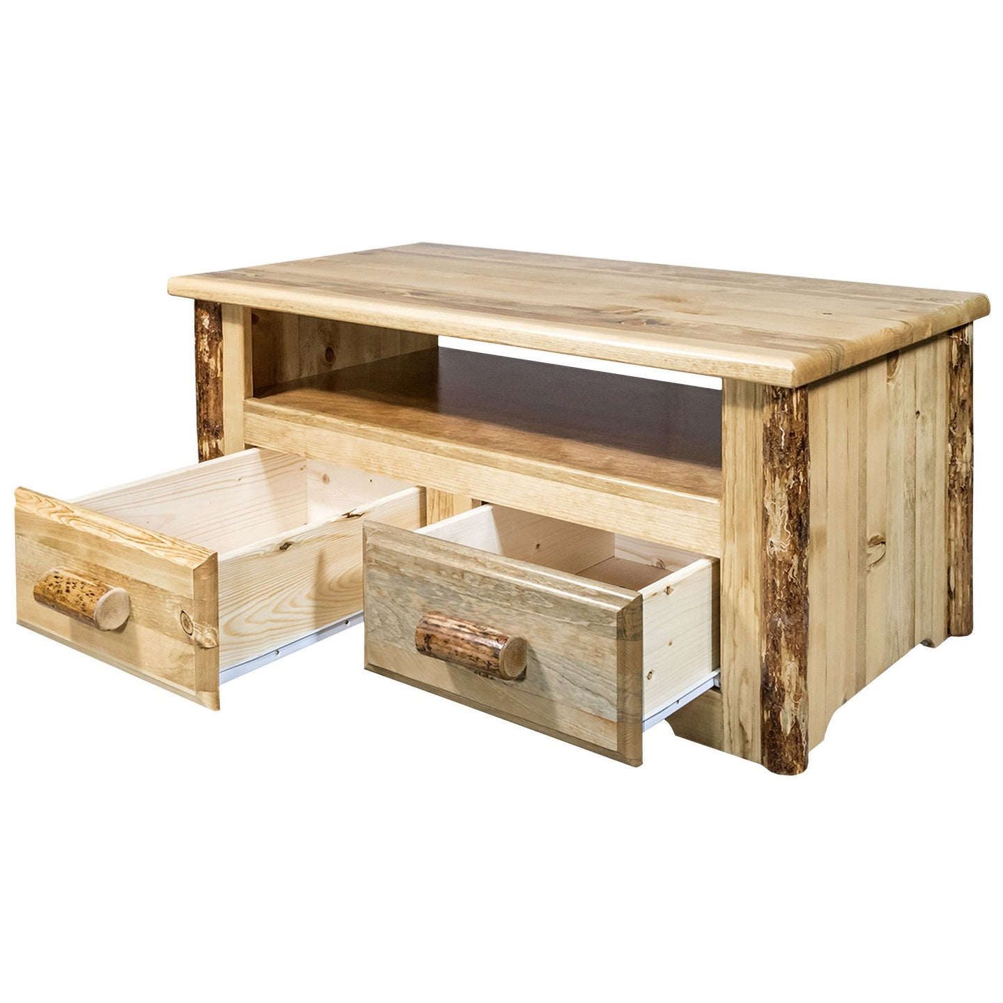 Glacier Country 2 Drawer Rustic Entertainment Center