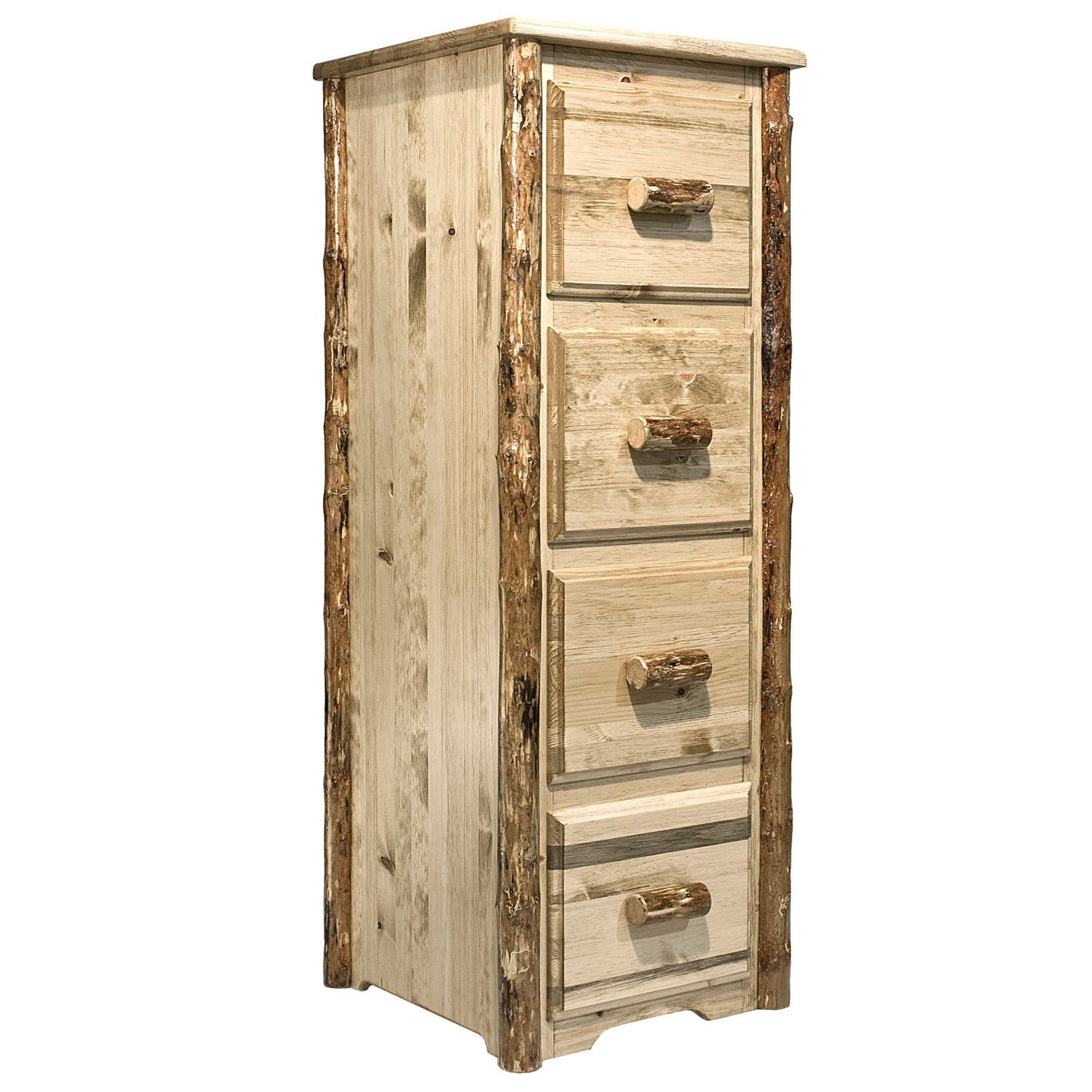Glacier Country 4 Drawer Rustic File Cabinet