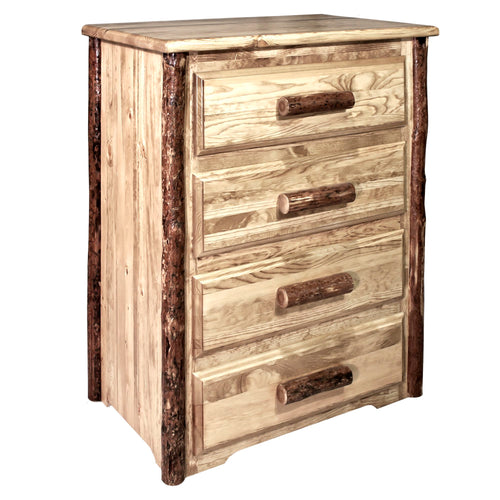 Glacier Country 4 Drawer Rustic Log Dresser