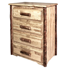 Load image into Gallery viewer, Glacier Country 4 Drawer Rustic Log Dresser