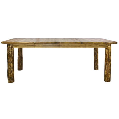 Glacier Country 4 Post Rustic Dining Table w/ Two 18