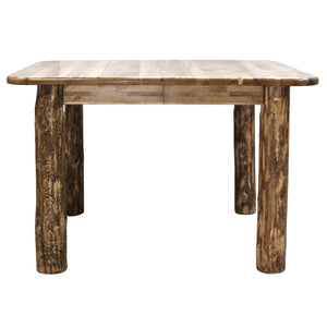 "Glacier Country 4 Post Rustic Dining Table w/ Two 18"" Leaves"