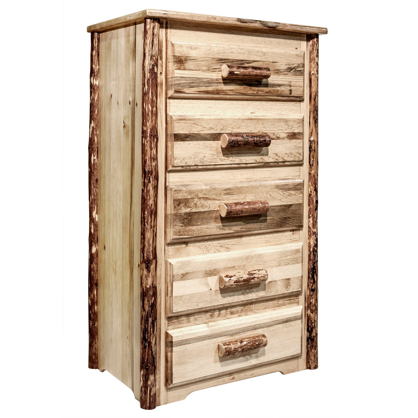 Glacier Country 5 Drawer Rustic Log Dresser