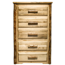 Load image into Gallery viewer, Glacier Country 5 Drawer Rustic Log Dresser