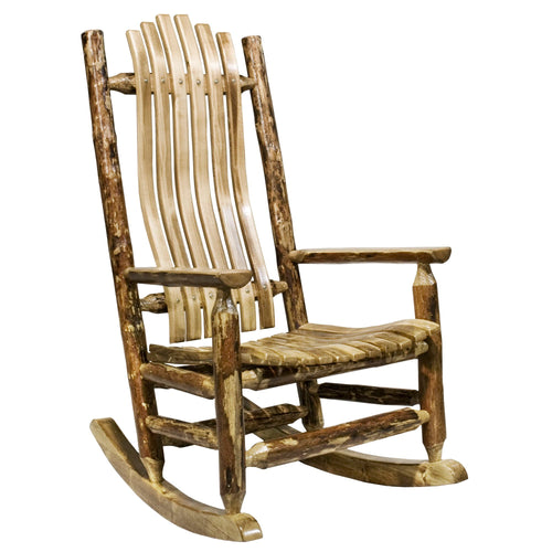 Glacier Country Adult Log Rocker
