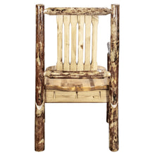 Load image into Gallery viewer, Glacier Country Rustic Captain's Chair w. Ergonomic Wooden Seat