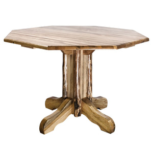 Glacier Country Center Pedestal Rustic Dining Table
