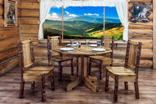 Load image into Gallery viewer, Glacier Country Center Pedestal Rustic Dining Table