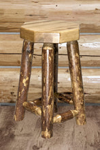 Load image into Gallery viewer, Glacier Country Counter Height Backless Rustic Bar Stool