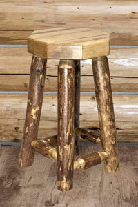 Glacier Country Counter Height Backless Rustic Bar Stool