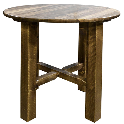Glacier Country Counter Height Rustic Bistro Table
