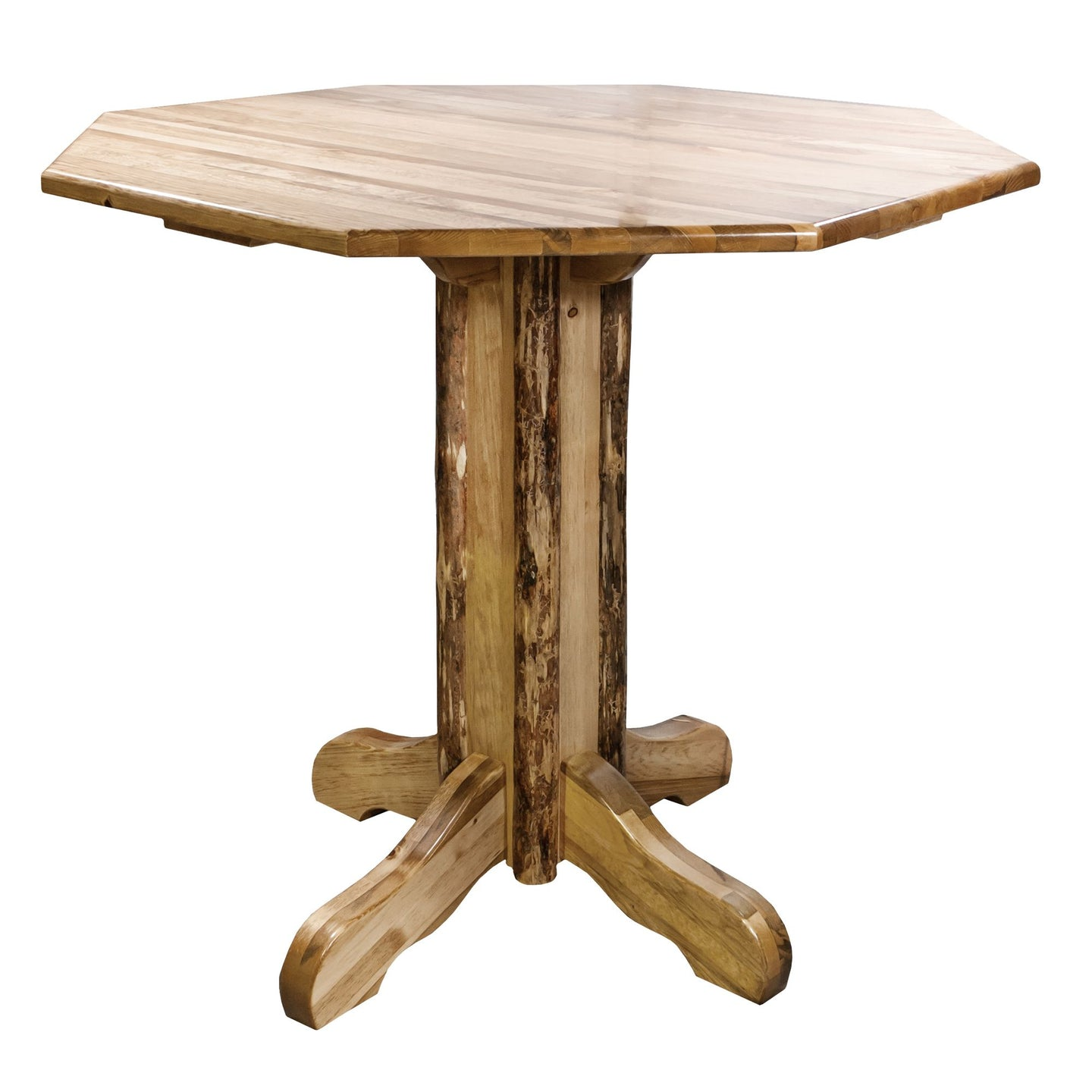 Glacier Country Counter Height Rustic Pub Table