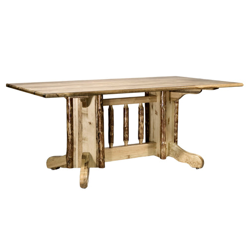 Glacier Country Double Pedestal Rustic Dining Table