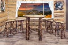 Load image into Gallery viewer, Glacier Country Half Log Rustic Bar Stool
