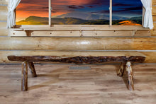 Load image into Gallery viewer, Glacier Country Half Log Wood Dining Bench