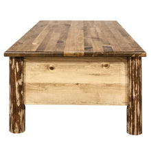 Load image into Gallery viewer, Glacier Country Large Rustic Coffee Table w/ 6 Drawers