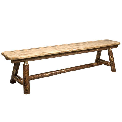 Glacier Country Plank Style Wood Dining Bench