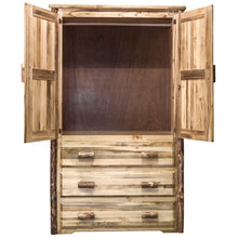 Load image into Gallery viewer, Glacier Country Rustic Armoire Wardrobe