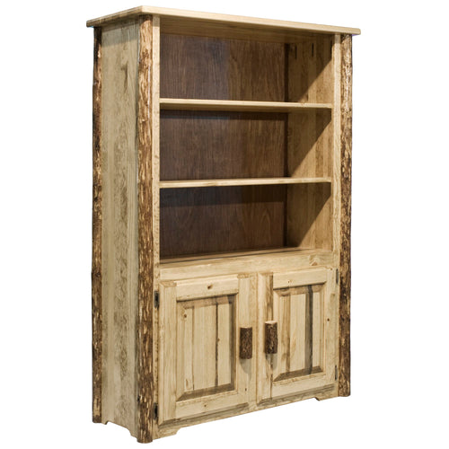 Glacier Country Rustic Bookcase with Storage