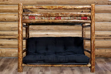Load image into Gallery viewer, Glacier Country Rustic Bunk Bed with Futon