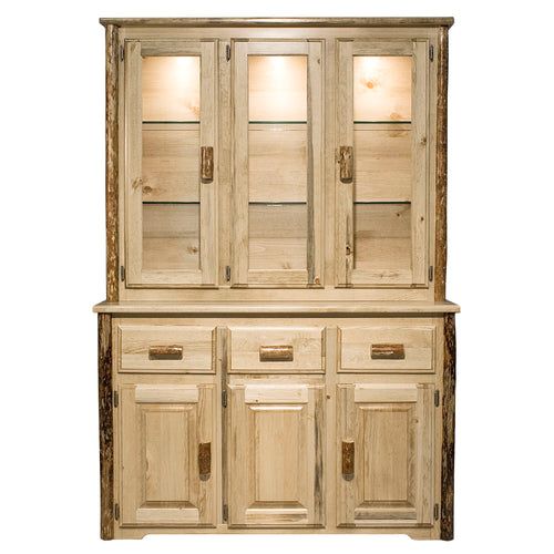 Glacier Country Rustic China Hutch