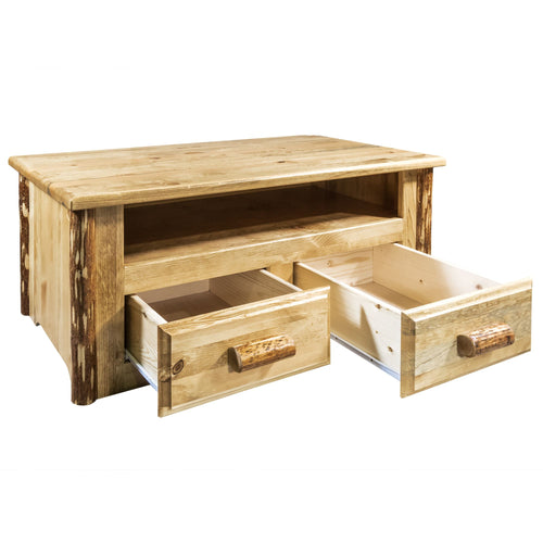 Glacier Country Rustic Coffee Table w/ 2 Drawers