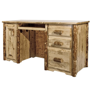 Glacier Country Rustic Computer Desk