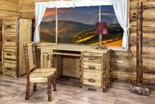 Load image into Gallery viewer, Glacier Country Rustic Computer Desk