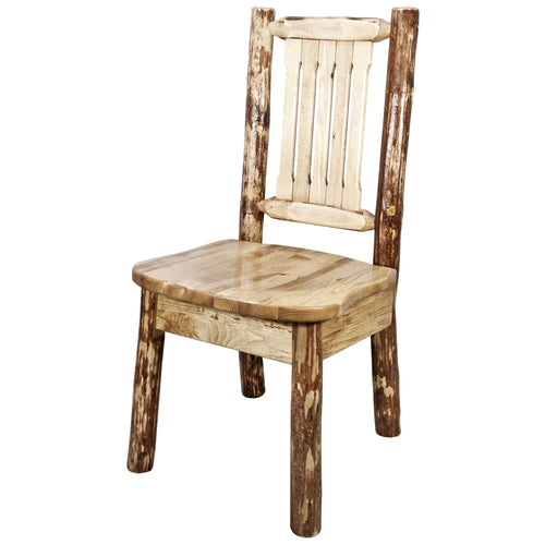 Glacier Country Rustic Dining Chair with Ergonomic Seat