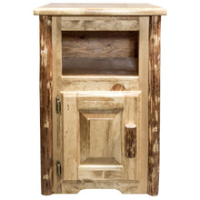 Load image into Gallery viewer, Glacier Country Rustic End Table w/ Door Left Hinged