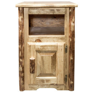 Glacier Country Rustic End Table w/ Door Right Hinged