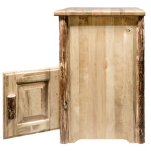 Load image into Gallery viewer, Glacier Country Rustic End Table w/ Door Right Hinged